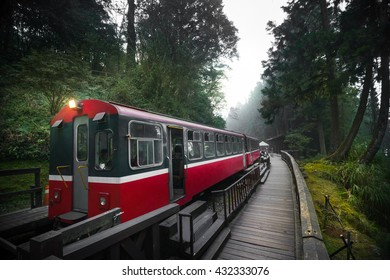 Alishan forest train railway is famous for tourist attraction.