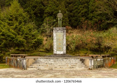 Alishan, Taiwan - December 27 2015: Sun Yat-sen Memorial near the Jhaoping Station of Alishan Forest Railway.