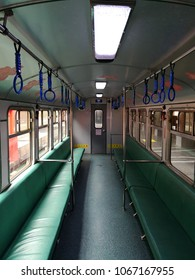 Alishan, Taiwan - October 23, 2017: Inside the Alishan train at Alishan Railway Station, Alishan National Forest Recreation Area ,Chiayi, Taiwan