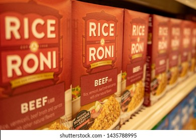 Aliso Viejo, CA / USA - 06/26/2019: Boxes of Rice Roni on a Local Grocery Store Shelf