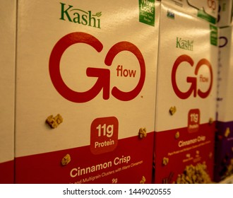 Aliso Viejo, CA / USA - 07/11/2019: Kashi Cereal on the Shelf of a Local Grocery Store