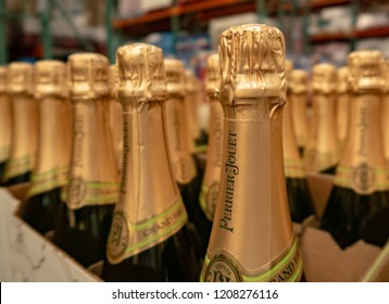 Aliso Viejo, CA / USA - 10/20/2018: Perrier-Jouët Champagne on Display at Costco