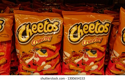 Aliso Viejo, CA / USA - 1/30/2019: Cheetos on Display at a Local Grocery Store