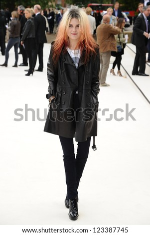 50c56f8e4096 Alison Mosshart arriving for the Burberry Prorsum catwalk show as part of  London Fashion Week SS13