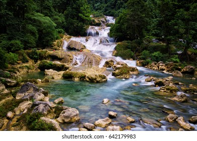 Aliwagwag waterfall in Mindanao area of Philippines
