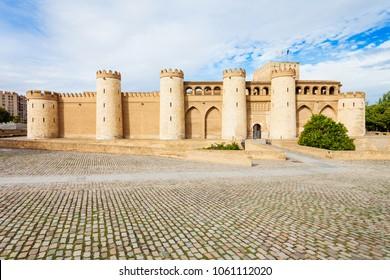 The Aljaferia Palace or Palacio de la Aljaferia is a fortified medieval Islamic palace in the Zaragoza city in Aragon region, Spain