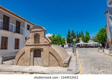 Aljibe de San Nicolas (San Nicolas Cistern) in Albaicin District, Granada, Andalusia, Spain.