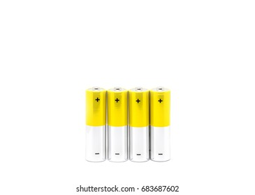 Alkaline battery AA size for energy, power or charger Used for toys or electronic devices, Isolated on white background .