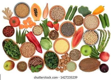 Alkaline super food for ph balance with fresh vegetables, fruit, nuts,seeds, legumes, herbs, spice, whole wheat pasta & grains. High in omega 3, antioxidants, anthocyanins, fibre, minerals & vitamins.