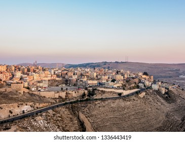 Al-Karak at sunrise, Karak Governorate, Jordan