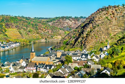 Alken town on the Moselle River in the Rhineland-Palatinate state of Germany