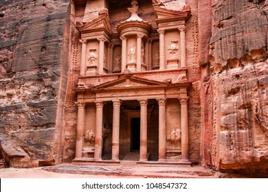 Al-Khazneh (The Treasury), is one of the most elaborate temples in the ancient Arab Nabatean Kingdom city of Petra.