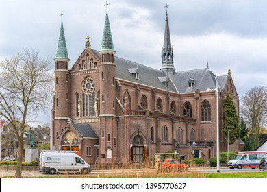 Alkmaar, the Netherlands - April 12, 2019: Church St. Josephkerk, Alkmaar, The Netherlands