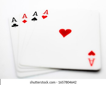 All aces from the deck of playing cards.
