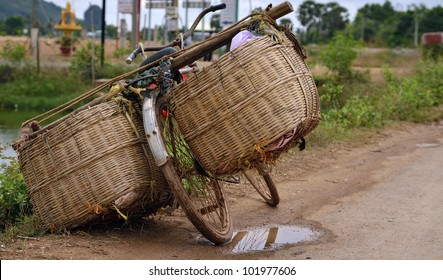 All around Asia you will find bicycles overloaded with too much cargo and just simple baskets.