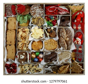 All Christmas Concept: Storage Box width Cookies and Ornaments