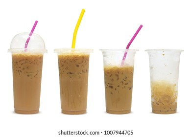 all iced coffee isolated