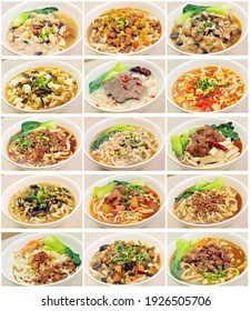 All kinds of Chinese noodles