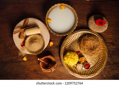 All natural and ayurvedic ingredients for bath or spa. 'Abyanga Snana' - an auspicious bath taken during Diwali or religious occasions in India.