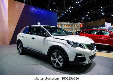 All NEW Peugeot 3008 car on display at THE 41st BANGKOK INTERNATIONAL MOTOR SHOW 2020 on July 14, 2020 in Nonthaburi, Thailand.