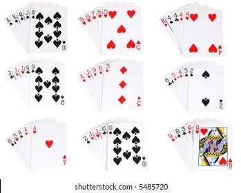 All the ranked hands in poker