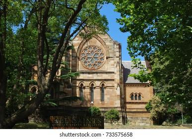 All Saints' Anglican Church Woollahra exterior, Sydney, Australia