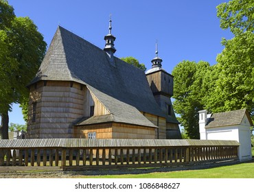 All Saints Church – Blizne, Poland. The church belongs to a collection of wooden churches from the UNESCO World Heritage List