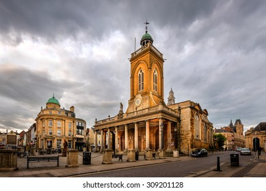 All Saints church located in the centre of Northampton City, Northamptonshire England.