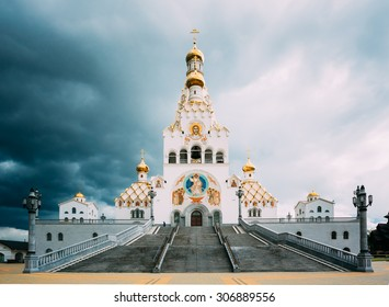All Saints Church In Minsk, Belarus. Minsk memorial church of All Saints and in memory of the victims, which served as our national salvation