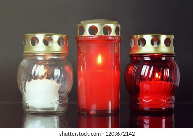 All Saints Day candles