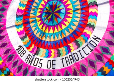 All Saints Day in Santiago Sacatepequez Guatemala, an important festivity that takes place on the town cemetery with beautiful handmade giant and colorful kites.