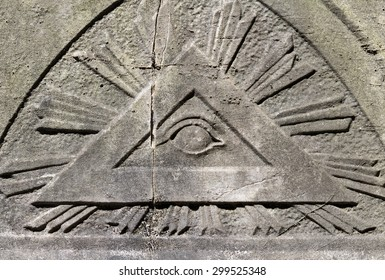 The All Seeing Eye. Masonic representation of Osiris. Many will note the triangle and the eye which is associated with the Illuminati.