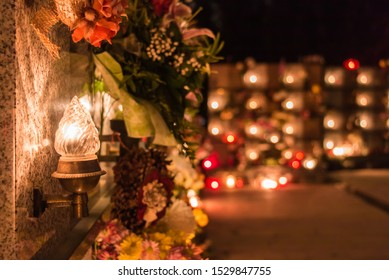 All Souls' Day, All Saint's Day with candles