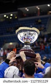 All Star Cup 2018. 17.02.2018, Bratislava, Slovakia Team celebrate