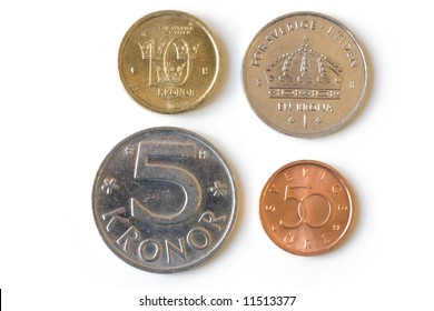 All swedish coins isolated