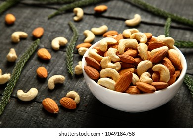 All time traditional vegan snack food- organic farm fresh  cashew nuts and almonds