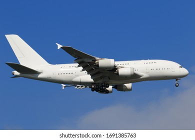 All white Airbus A380 ex-Singapore Airlines