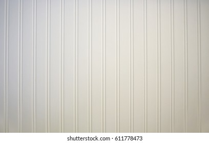 All white wainscoting texture background.