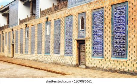 Alla Kuli Khan Caravanserai Wall detail in Khiva