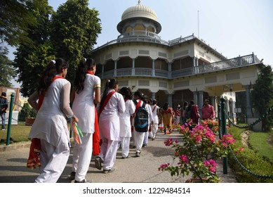 Allahabad: People visit Anand Bhawan on the ocassion of fomer prime minister Jawahar Lal Neharu birth anniversary celebrated as Children's Day in Allahabad on 14-11-2018.