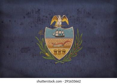 Allegheny County , Pennsylvania flag on fabric texture,retro vintage style