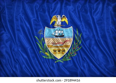 Allegheny County , Pennsylvania. flag pattern on the fabric texture ,vintage style