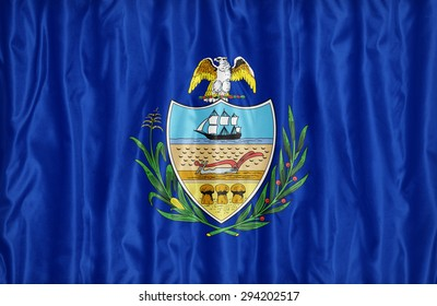 Allegheny County , Pennsylvania flag pattern on fabric texture,retro vintage style