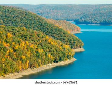 Allegheny National Forest hills and reservoir