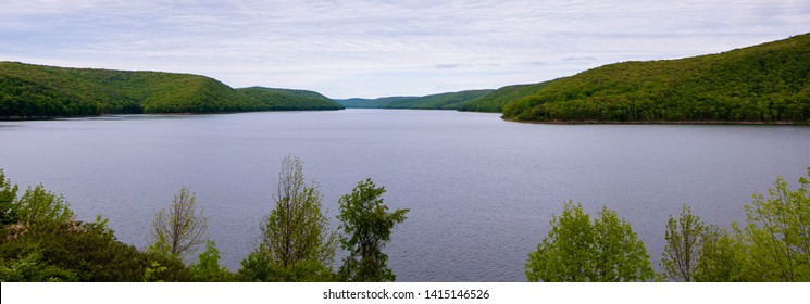 The Allegheny Reservoir in Warren County, Pennsylvania, USA behind Kinzua Dam on a spring day