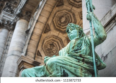 Allegorical Statue of East Flanders by Jef Lambeaux at Cinquantenaire Brussels