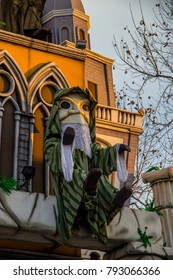 Allegorical wagons in Fano, carnival parade  in Italy