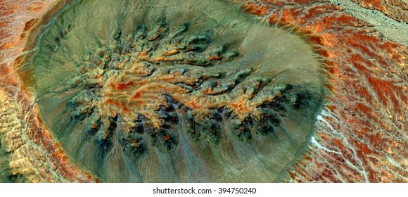 Allegory of cell dividing, abstract photography of the deserts of Africa from the air, bird's eye view, abstract expressionism, contemporary art, optical illusions,