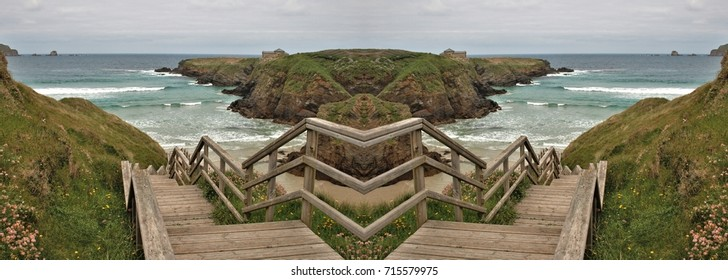 allegory of divorce, of rupture, of separation,allegory of doubt, Hamlet, indecision, vacillation dilemma,visual allegories, photographic  metaphors, stairs on the beach,