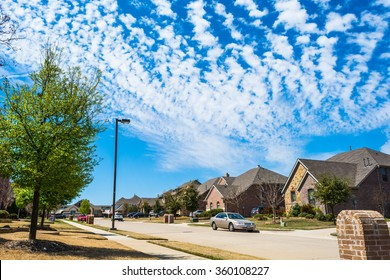 Allen Texas, USA - March 28 2015  Typical middle class neighborhood in Allen Texas